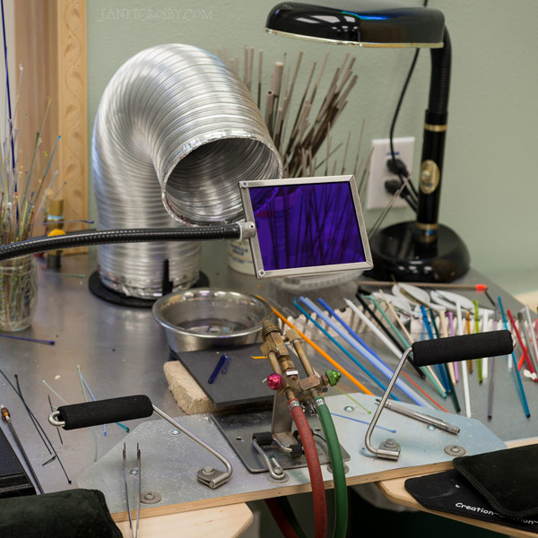 Lampworking workbench - janetcrosby.com