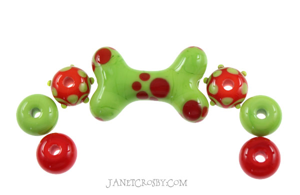 Brights - Dog Bone Set - janetcrosby.com