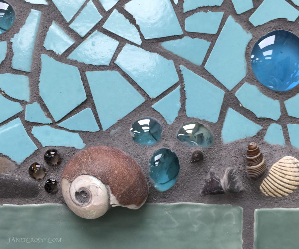 Octopus Detail - Shells, Stones, Glass Globs - Janet Crosby