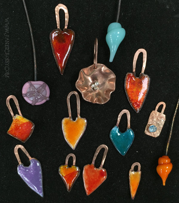 Enameled Hearts - JanetCrosby.com