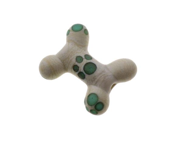 Ivory Teal Dog Bone - www.JanetCrosby.com