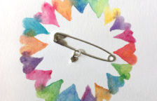 Safety Pin Heart - janetcrosby.com