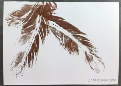 Hand-printed Feather Card - Copper