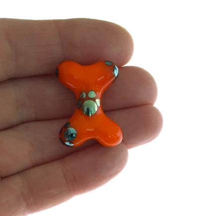 Orange Metallic Bone by Janet Crosby