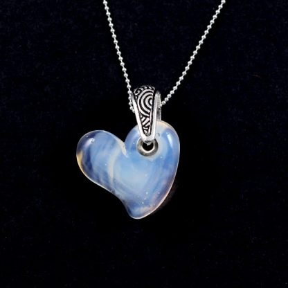 Silver Lining Cloud Heart by Janet Crosby