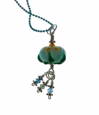 Water Lotus Necklace by Janet Crosby