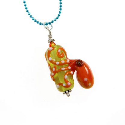 Catch A Wave Octopus Necklace by Janet Crosby