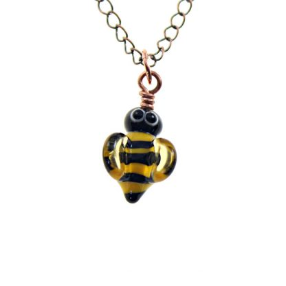 Bee Charm - Nose UP - by Janet Crosby