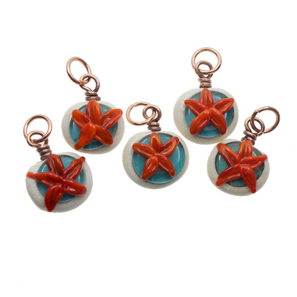 Sea Star Charms Set by Janet Crosby
